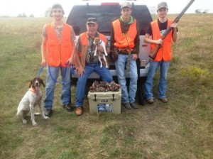 Munoz Family and Josie Quail Hunt